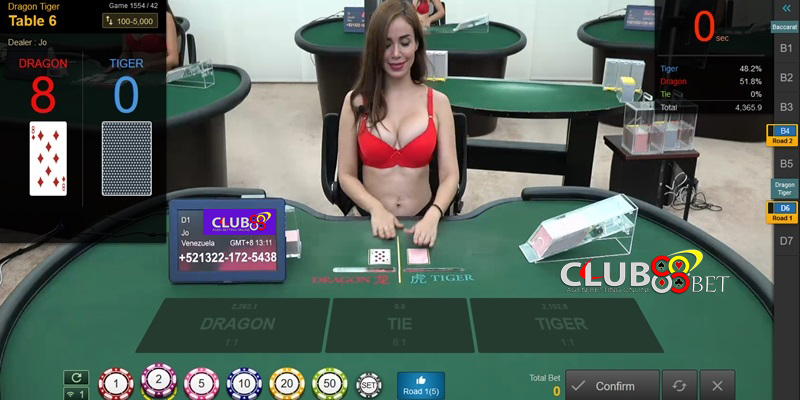 dragon tiger live casino online club88bet